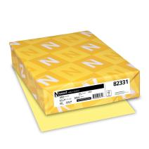 Wausau Vellum Bristol Cardstock, 67 lb, 8.5 x 11 Inches, Pastel Yellow, 250 Sheets (82331)