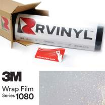 3M 1080 GP240 Gloss White Gold Sparkle 5ft x 6ft W/Application Card Vinyl Vehicle Car Wrap Film Sheet Roll