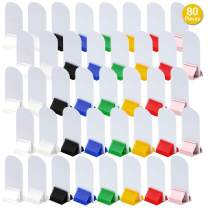 40 Pcs Game Card Stands, 8 Colors Board Game Pieces Holder Bulk – 40 Pcs Blank Board Game Board Markers Card Game Holder for Party Favor, DIY Game Board Pieces Figures