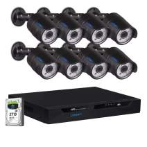 LONNKY 16CH Full 1080P Security Camera System, 5 in 1 DVR Surveillance Kit with 8PCS 2.0MP Outdoor Bullet CCTV Camera, Smart Motion Detection,Crystal Night Vision,P2P Remote Access(2TB HDD Included)