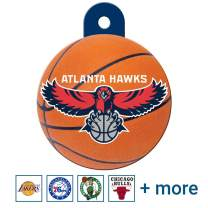 GoTags Personalized Engraved NBA Sports Team Dog Tags, Round Shape Pet ID Tags