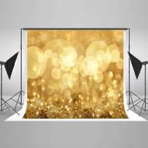 Kate 7x5ft Gold Bokeh Photography Backdrop Golden Shiny Dots Backdrop Golden Background Portrait Photo Studio Props