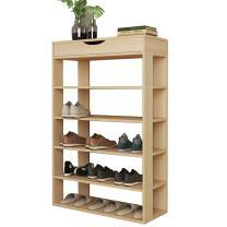 soges 5-Tier Shoe Rack 29.5 inches Wooden Shoe Storage Shelf Shoe Organizer White Oak L24-XMP