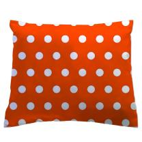 SheetWorld - Toddler Pillowcase Hypoallergenic Made in USA - Polka Dots Orange 13 x 17