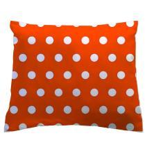 SheetWorld - Toddler Pillowcase Hypoallergenic Made in USA - Polka Dots Orange 13 x 17