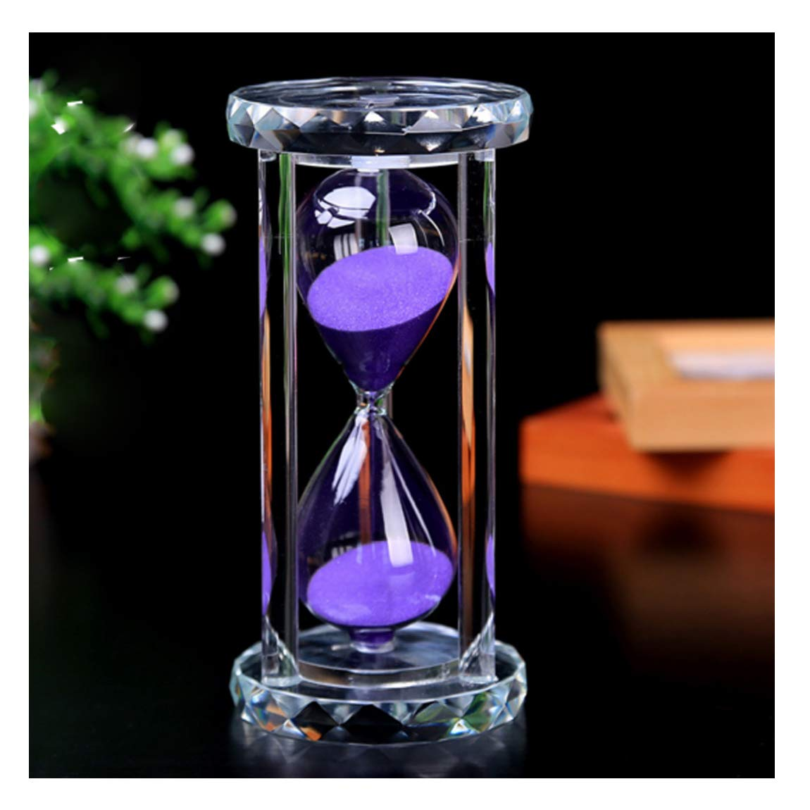SZAT PRO Hourglass, Sand Timer 30 Min/Mins Hour Glass with Gift Box Package(Purple,Crystal)