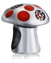 Wonderland Magic Mushroom Charm Bead For Women For Teen 925 Sterling Silver Fits European Bracelet