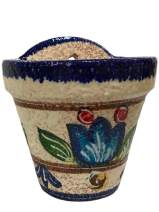 Cactus Canyon Ceramics Spanish Hand-Painted Wall Flower Pot, Spanish Jazz
