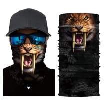 Seamless Bandanas Animal Face Mask - Unisex Neck Gaiter for Dust, Outdoors, Festivals, Sports
