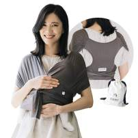 Konny Baby Carrier Summer | Ultra-Lightweight, Hassle-Free Baby Wrap Sling | Newborns, Infants to 44 lbs Toddlers | Cool and Breathable Fabric | Sensible Sleep Solution (Mocha, XS)