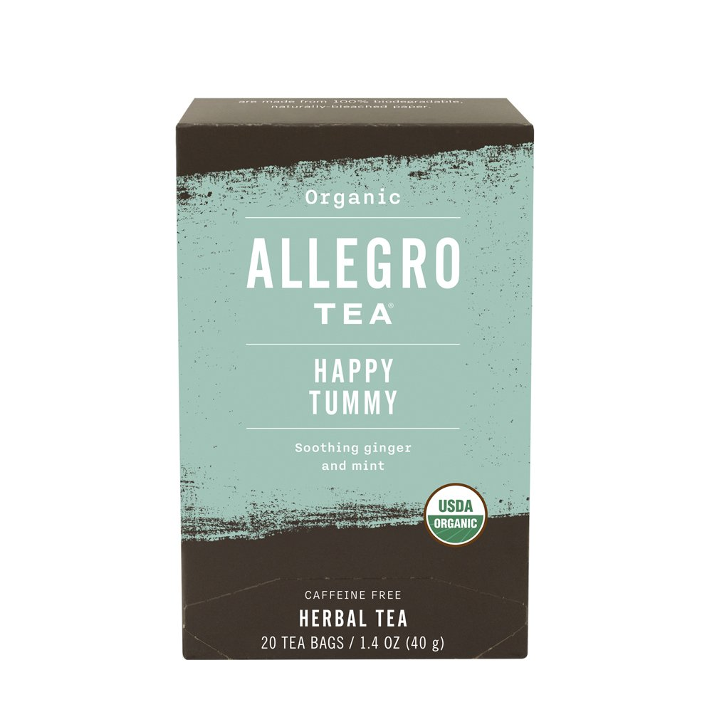 Allegro Tea, Organic Happy Tummy Tea Bags, 20 ct