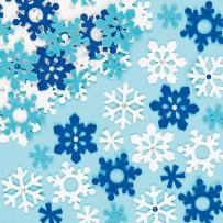 Baker Ross Felt Snowflake Stickers for Kids' Crafts and Art Projects, Cards, Party Bags, and Decorations (Pack of 78)
