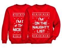 Xmas Nice & Naughty List Ugly Christmas Set Funny Holiday Kids Youth Sweatshirts