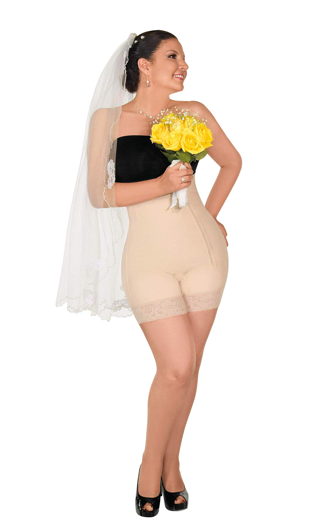 Forma Tu Cuerpo, Faja Colombiana, Faja Short Strapless Bodysuit, Girdle & Compression Garment for Smooth Curves
