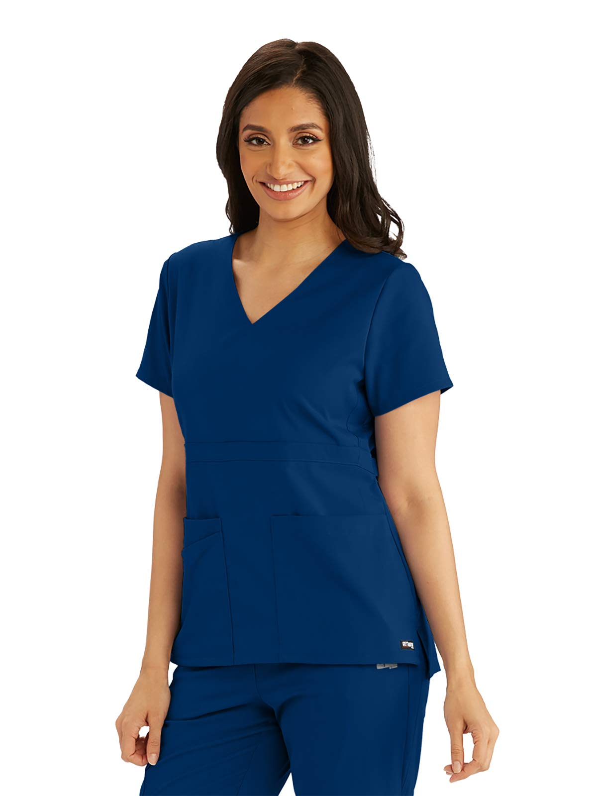 Grey's Anatomy Spandex-Stretch Top for Women– Extreme Comfort Medical Scrub Top