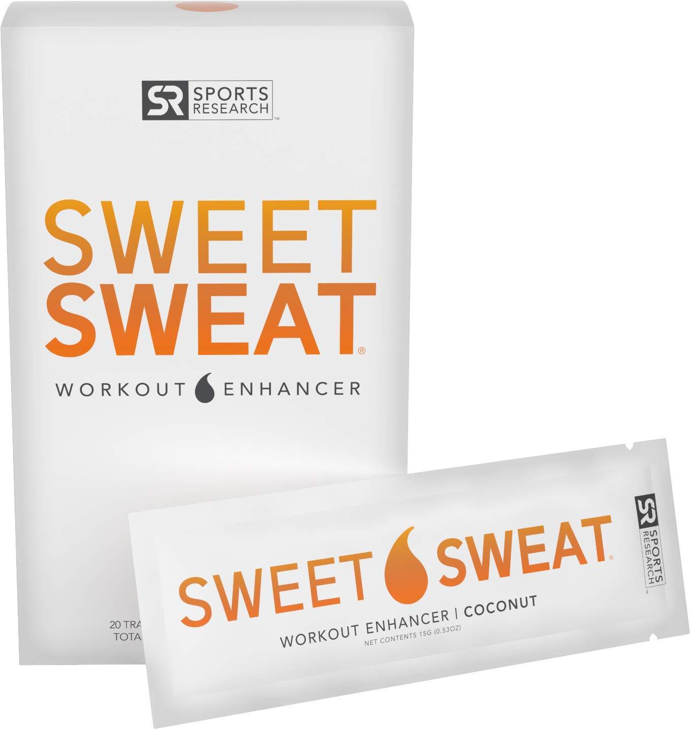 Sweet Sweat Coconut 'Workout Enhancer' Gel Packets - 10.5oz (20 Travel Packets)
