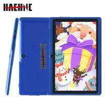 Haehne 7 Inch Tablet PC - Google Android 9.0 Pie, 1G RAM 16GB ROM, Quad Core, 1024 x 600 IPS HD Display, Dual Camera, 2800mAh, WiFi, Bluetooth (Blue)