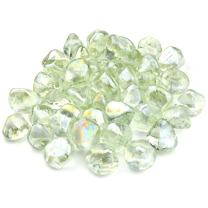 onlyfire Reflective Fire Glass Diamonds for Natural or Propane Fire Pit, Fireplace, or Gas Log Sets, 10-Pound, 1/2-Inch, Crystal Ice