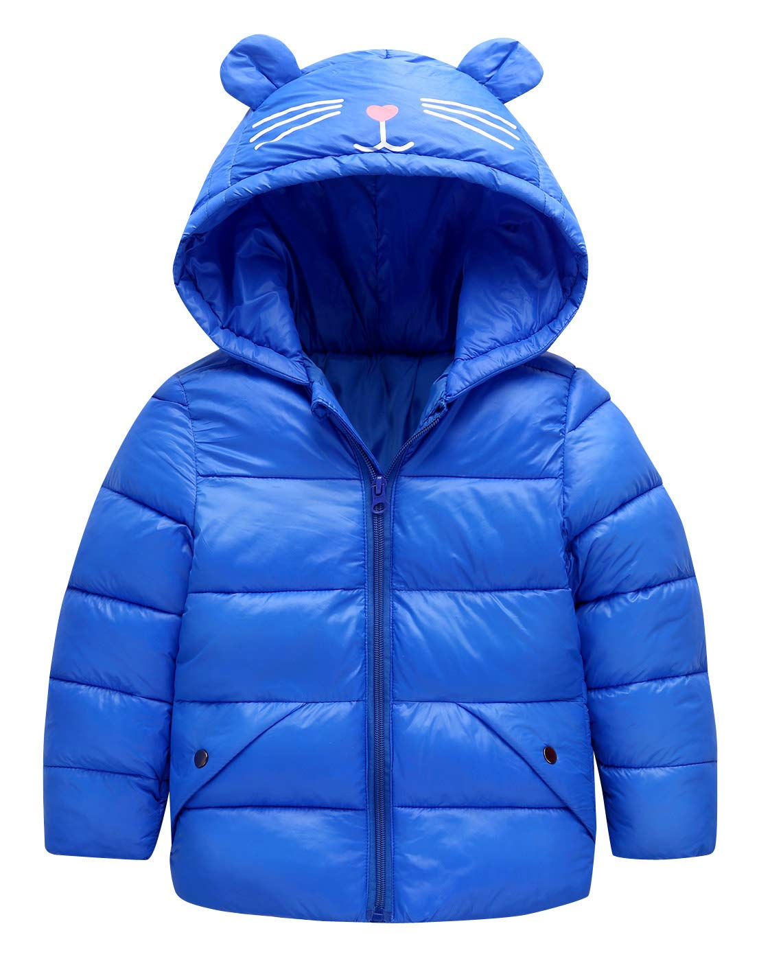 Happy Cherry Baby Boys Girls Hooded Down Jacket Windproof Warm Snowsuit Winter Coat