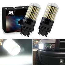 EverBright Extremely Bright 3250Lumen 3156 Led Turn Signal Light Bulb, Canbus No Error P27W 3156A 3456 Replacement Led Bulb for Turn Signal Blinker Light, 3014 144SMD White (Pack of 2)