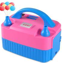 AXHJ Portable Balloon Pump Electric, 2020 New Dual Nozzle 110V 600W Air Inflator Blower for Balloon Arch, Balloon Column Stand, Party Balloon Decoration (Pink&Blue, US Standard Plug)