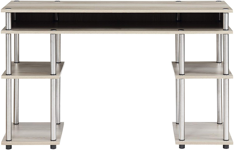 Convenience Concepts Designs2Go No Tools Student Desk, Ice White