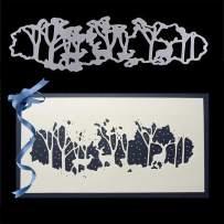 Metal Cutting Die Stencil, KISSBUTY Criss-Cross Metal Scrapbooking Dies Cuts Handmade Stencils Template Embossing for Card Scrapbooking Craft Paper Decor (Forest)