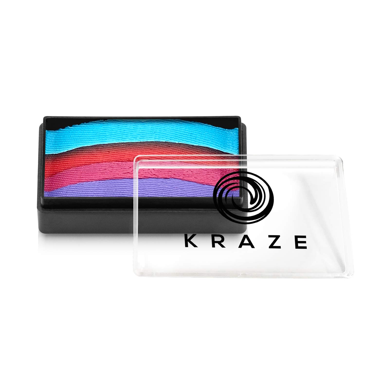 Kraze FX Dome Stroke - Fancy Girl (25 gm), Professional 1-Stroke Split Cake, Hypoallergenic, Non-Toxic, Water Activated Face & Body Painting Makeup Supplies for Sensitive Skin, Kid Safe, Adults
