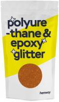 Hemway Metallic Glitter Floor Crystals for Epoxy Resin Flooring (500g) Domestic, Commercial, Industrial - Garage, Basement - Can be Used with Internal & External (Copper)