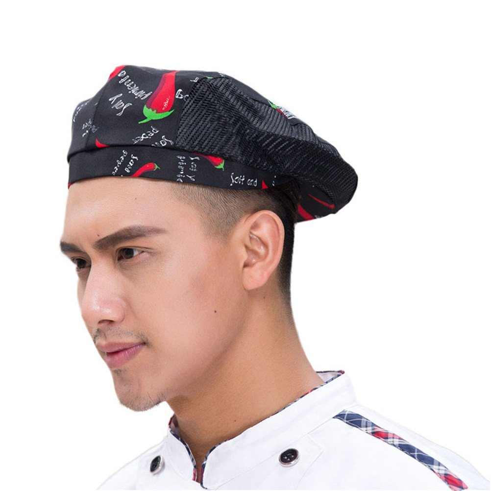Nanxson Chef Hat Beret Restaurant Kitchen Cooking Mesh Chef Cap for Women Men CF9021