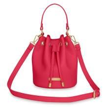 Katie Loxton Mini Drawstring Bucket Womens Vegan Leather Crossbody Shoulder Handbag