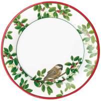 Caspari Winter Songbirds Paper Dinner Plates - Pack of 8