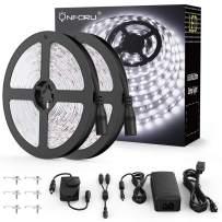 Onforu 66ft LED Strip Light, 6000K Daylight White Dimmable Tape Light, 20m 12v Flexible Ribbon Light, 2835 LEDs Rope Lighting for Home, Kitchen, Under Cabinet, Bedroom, Non-Waterproof