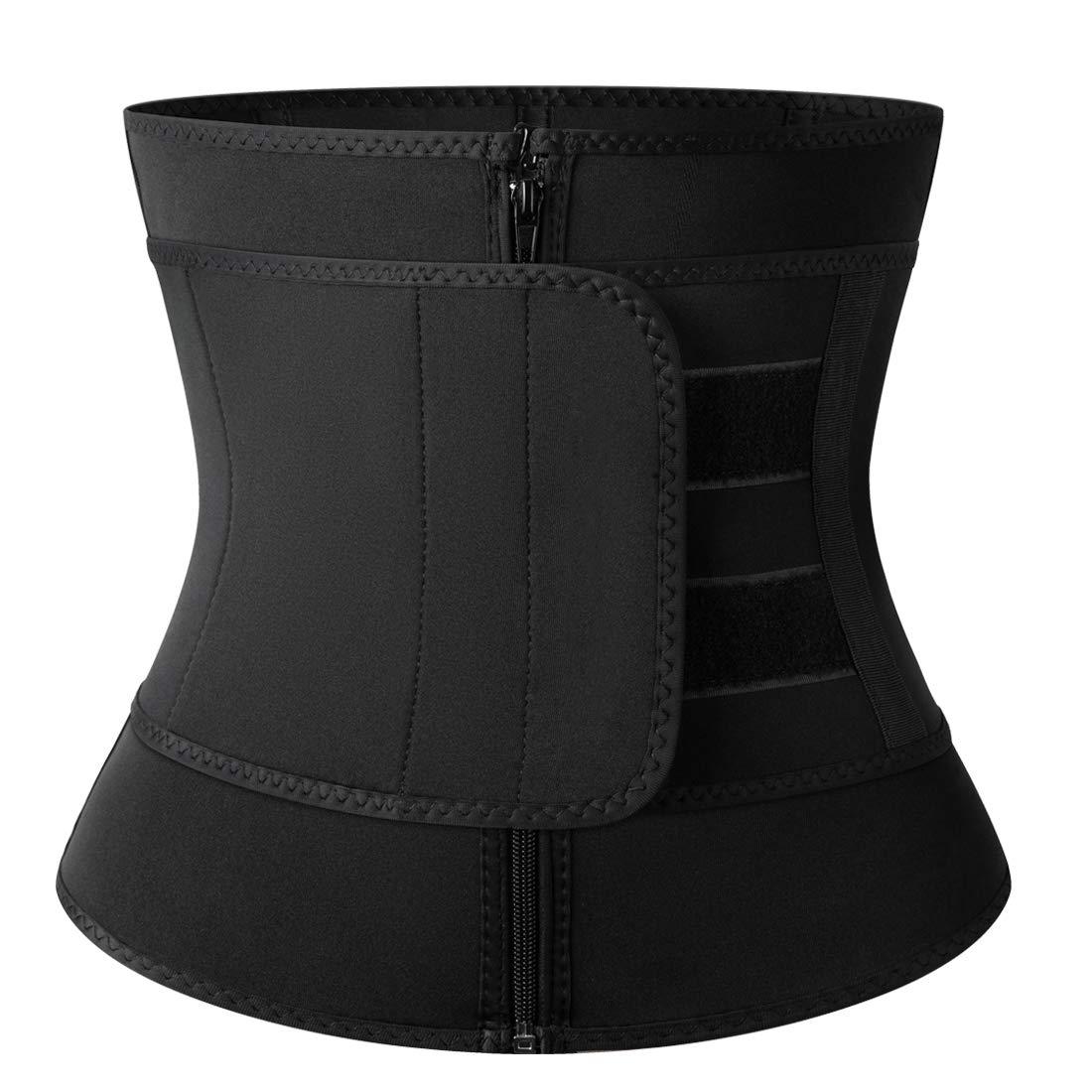 SHAPERIN Sweat Waist Trainer Corset, Women Underbust Waist Trimmer Belt for Weight Loss Everyday Wear