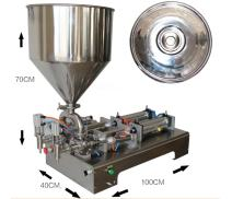 KUNHEWUHUA Pneumatic Pasty Liquid Filling Machine 50~500ML for Shampoo/Cream/Sauce Double Nozzle