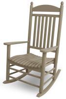 POLYWOOD J147SA Jefferson Rocking Chair Rocker, Single, Sand