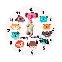 Baby Monthly Milestone Blanket Soft Age Infant Photo Props Cute Newborn Shower for Girls Boys Unique Beautiful Mom Baby Gifts 12 Animal
