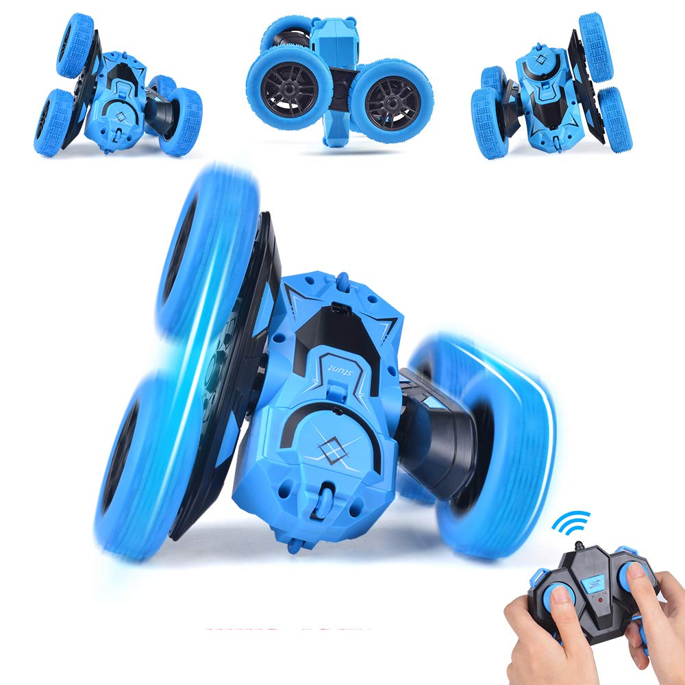 Stunt RC Car Remote Control Car NQD Double Sided Rotating Tumbling 2.4GHz 4WD Off Road Toy Car 2.4Ghz Radio Remote Control Car 4WD High Speed Racing All Terrain Climbing Car Gift for Boys
