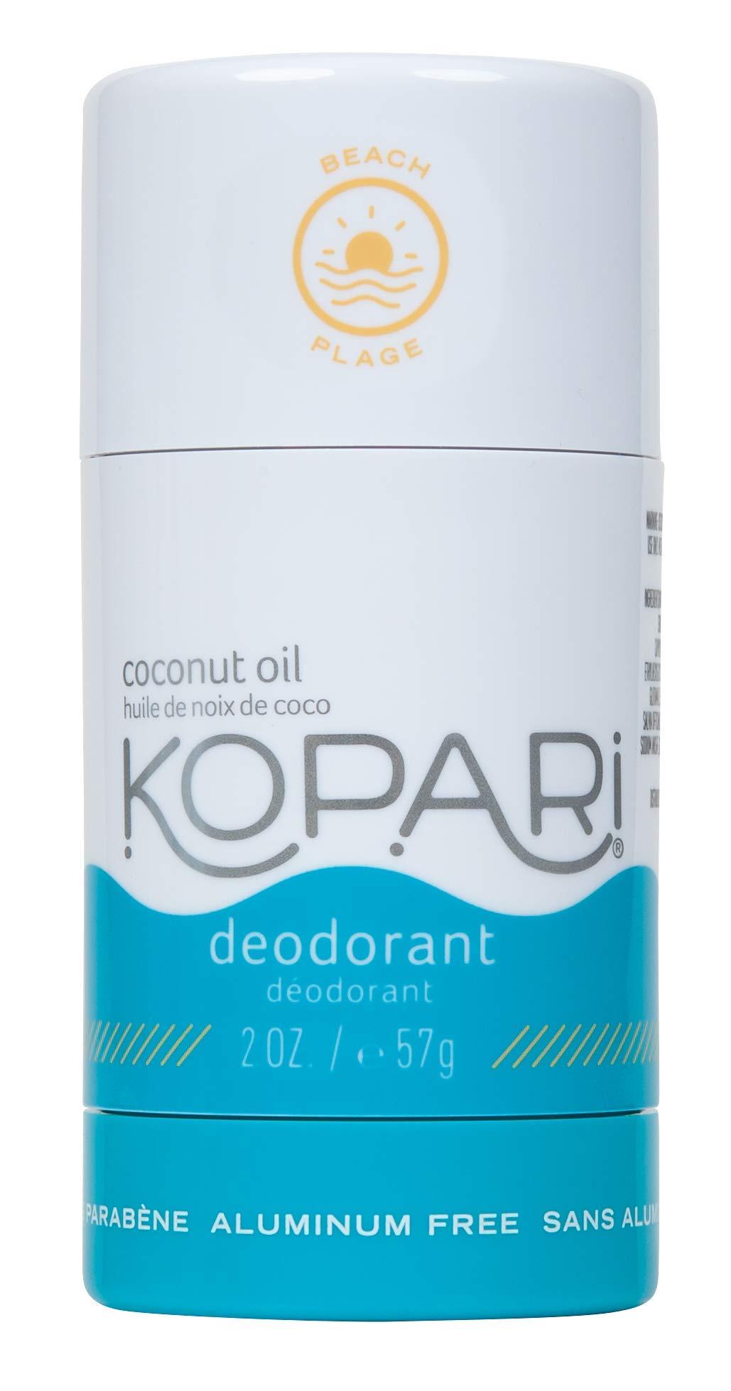 Kopari Aluminum-Free Deodorant Beach   Non-Toxic, Paraben Free, Gluten Free & Cruelty Free Men's and Women's Deodorant   Made with Organic Coconut Oil   2.0 oz