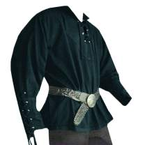 Beotyshow Mens Medieval Renaissance Shirt Viking Pirate Shirts Adult Steampunk Cosplay Costume