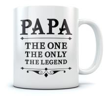 PAPA The One The Only The Legend Coffee Mug Father's Day Gift for Dad, Grandpa, Birthday/Christmas Present for Fathers, Grandpas Ceramic Ceramic Mug 15 Ounce White