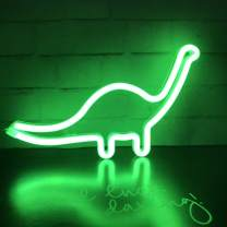 Dino Neon Light Sign, Dinosaur Decor Lamp Wall Art Sign for Kids Gift Battery or USB Operated Table LED Night Lights for Girls Bedroom,Living Room,Christmas,Party,Home Accessories