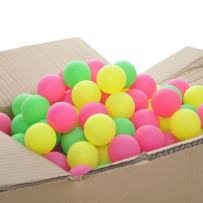 GOGO 600 Pieces Beer Pongs Table Tennis Balls, Assorted Colors Bright Color