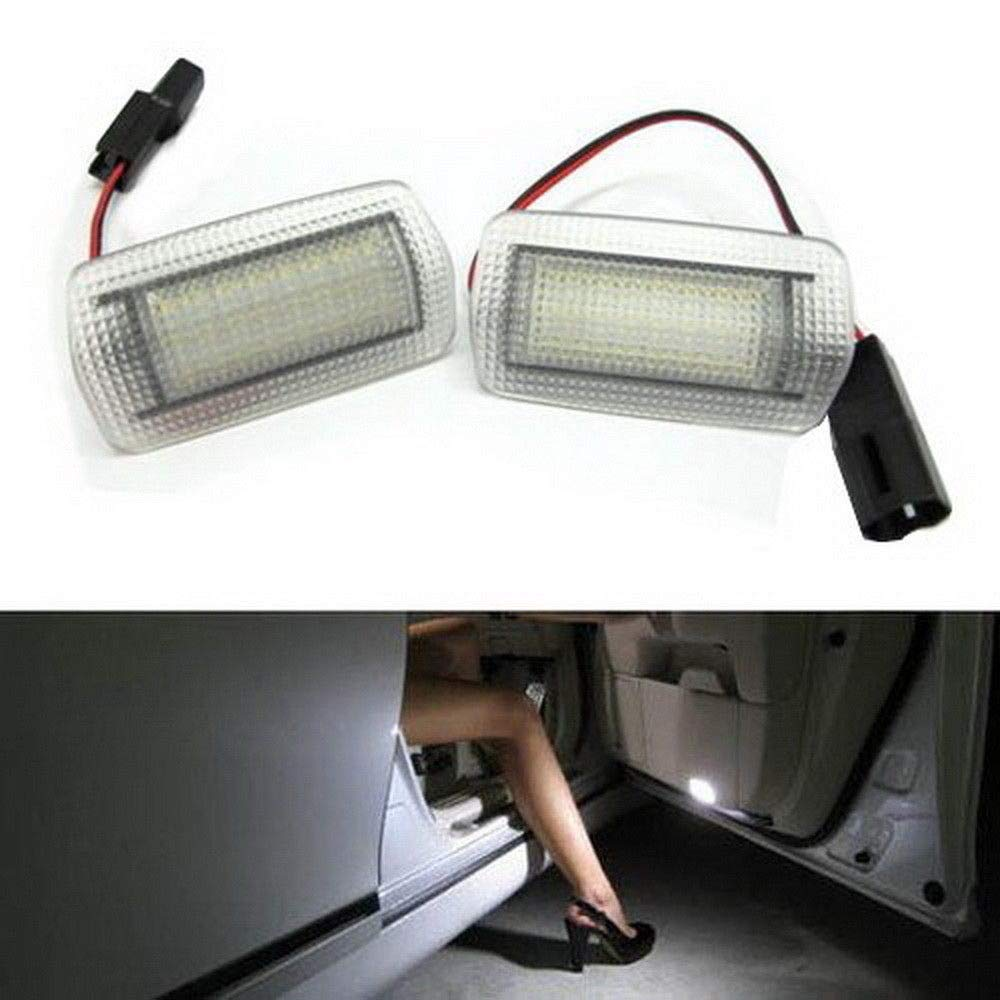 iJDMTOY (2) Full LED Side Door Courtesy Light Assy Compatible With Lexus IS ES GS LS RX GX LX Toyota Avalon Sienna Venza Camry Prius 4Runner, OEM Replacement, Powered by 18-SMD Xenon White LED