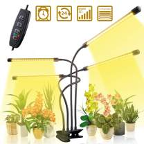 CXhome Grow Light 80 LEDs Plant Lights Grow Lamp Upgraded with Cycle Adjustable Gooseneck & Desk Clip On, 3/6/12H Timer 3 Switch Modes 10 Brightness Settings Sunlike Full Spectrum for Indoor Plants