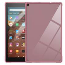 TiMOVO Case for All-New Amazon Fire HD 10 Tablet (9th Generation, 2019 Release and 7th Generation, 2017 Release) - Slim Lightweight Flexible TPU Shock Absorbant Back Case for Fire HD 10 Tablet, Plum
