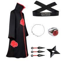 TOJONOZO Unisex Long Robe Halloween Costume Uniform Cloak Headband Plastic Props