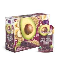 Happy Baby Organic Clearly Crafted Stage 2 Baby Food Purple Carrots, Bananas, Avocados & Quinoa, 4 Ounce Pouch (Pack of 16)