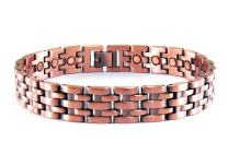 ProExl Mens Magnetic Pure Copper Link Bracelet Toro with Magnets for Arthritis Pain Relief