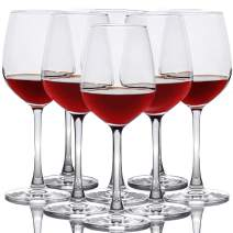 Red Wine Glasses, Set of 8, 12-Ounce Party Drinking Glassware, Clear, Dishwasher Safe